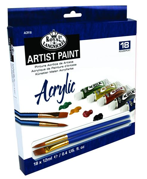 Acrylfarben-Set ARTIST Paint 18 x 12ml