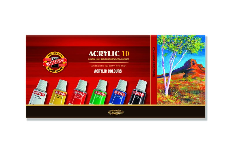 Acrylfarben-Set KOH-I-NOOR - 10 x 16 ml