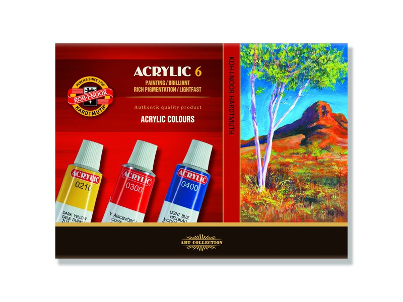 Acrylfarben-Set KOH-I-NOOR - 6 x 16 ml