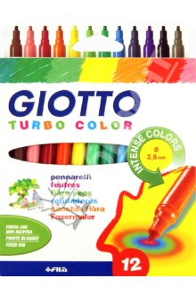 Fasermaler Giotto Turbo Color - 12er Etui