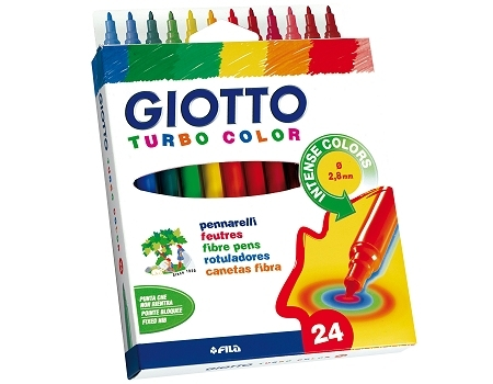 Fasermaler Giotto Turbo Color - 24er Etui