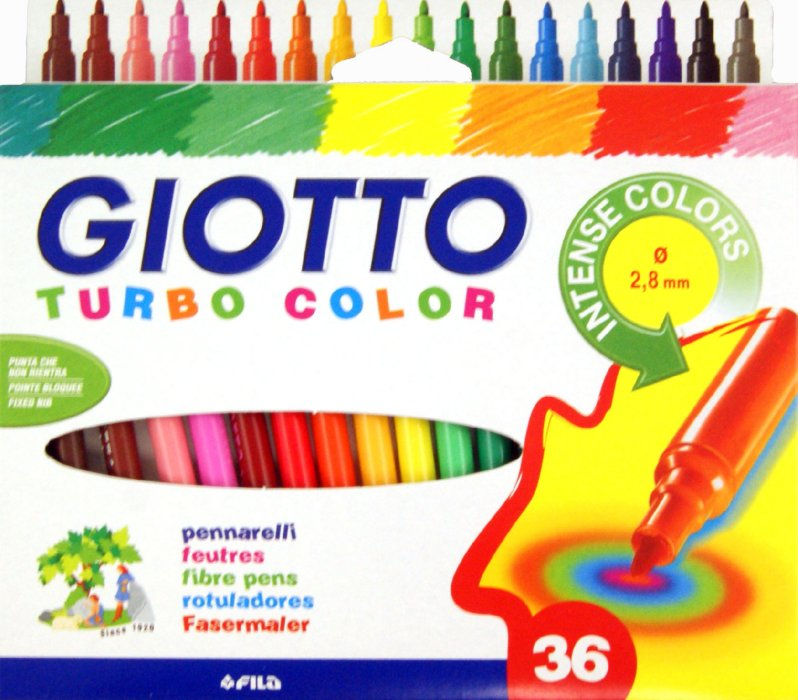Fasermaler Giotto Turbo Color - 36er Etui