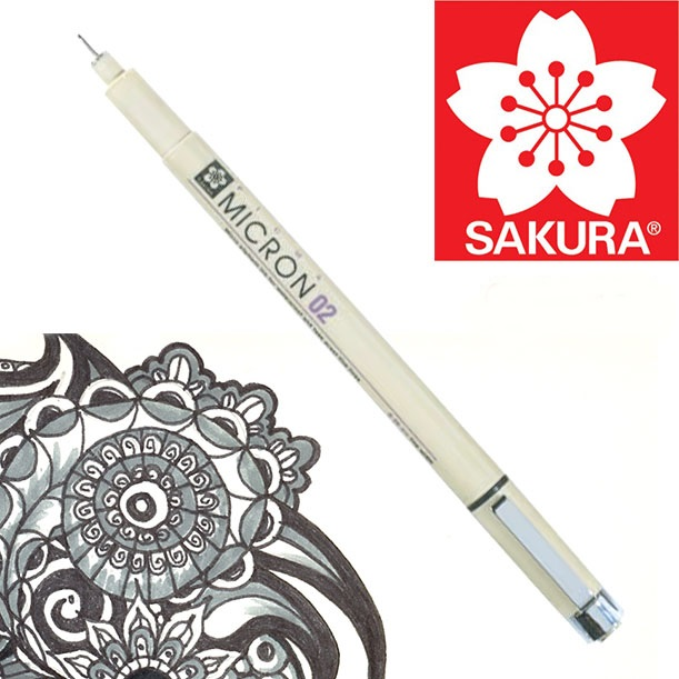Fineliner SAKURA Pigma Micron  BLACK 08 - 0.5 mm