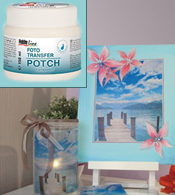 FOTO transfer POTCH transparent - 150/250/750 ml