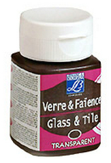 Glas- und Keramikfarbe GLASS&TYLE 50ml - transparent - Chocolate