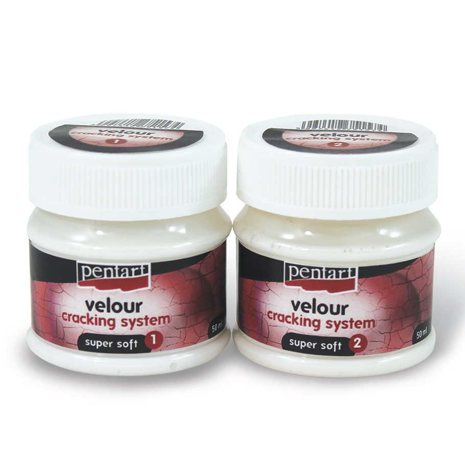 Krakelierlack mit Velours-Effekt Super Soft - 50 ml + 50 ml