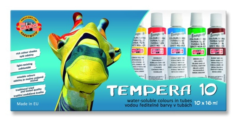 Temperafarben-Set KOH-I-NOOR 10 x 16 ml