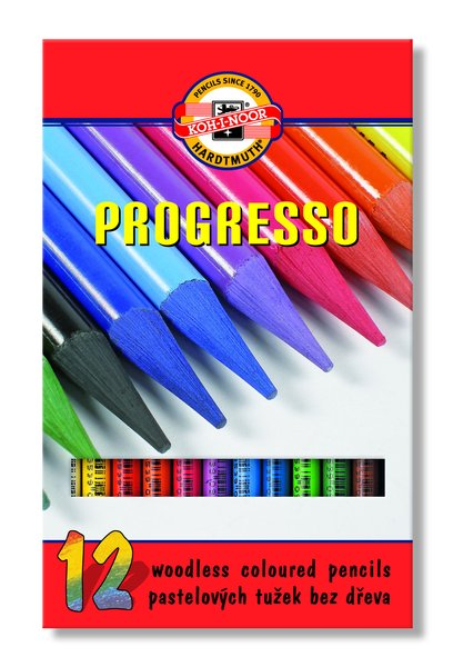 Wachspastelle PROGRESSO - 12er Set