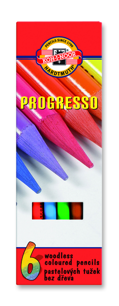Wachspastelle PROGRESSO - 6er Set