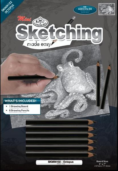 Zeichen-Set Sketching made Easy™ Octopus - mini